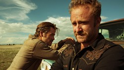 MODERN DAY WESTERN Brothers Toby (Chris Pine, left) and Tanner Howard (Ben Foster) take to bank robbery in a bid to save the family's West Texas ranch, in the 2016 western Hell or Highwater, available on Netflix. - PHOTO COURTESY OF CBS FILMS