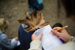 ENGAGED Rancho El Chorro students get two things upon attending the program: a necklace with their nature name and a journal. - PHOTO BY JAYSON MELLOM
