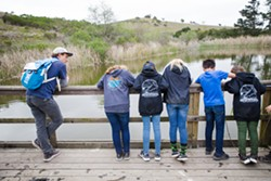 CONNECTION Naturalists who teach students at outdoor education programs engage students in nature and assist them in understanding their role in the environment. - PHOTO BY JAYSON MELLOM