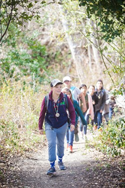 OUT IN NATURE Originally from Colorado, Norma Elliot moved to San Luis Obispo to be a naturalist for Rancho El Chorro Outdoor School. - PHOTO BY JAYSON MELLOM