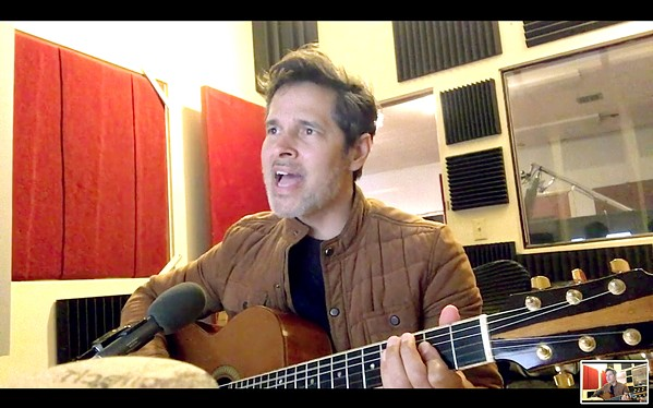 A LITTLE QUARATUNE Damon Castillo recently wrote an amazing song about COVID-19 and the quarantine, which is available on his Facebook page. - SCREENSHOT COURTESY OF DAMON CASTILLO