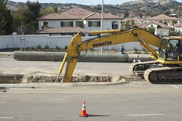 BROKEN PIPE The Lake Nacimiento water pipeline, which went into service in 2011, has been shut down since September due to a leak. - FILE PHOTO BY STEVE E. MILLER