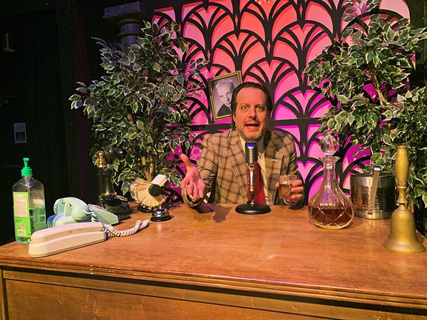 WORRIED MIND Kevin Harris plays an anxious talk show host on SLO REP's new online series The Intermission Show, available on YouTube. - PHOTO COURTESY OF SLO REP AND KEVIN HARRIS