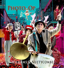 STEP RIGHT UP Williams & Nuttycombe's new CD, Photo Op, is as quirky, whimsical, and wonderful as its album cover. - ALBUM COVER DESIGN BY JIM DULTZ/COURTESY OF WILLIAMS & NUTTYCOMBE