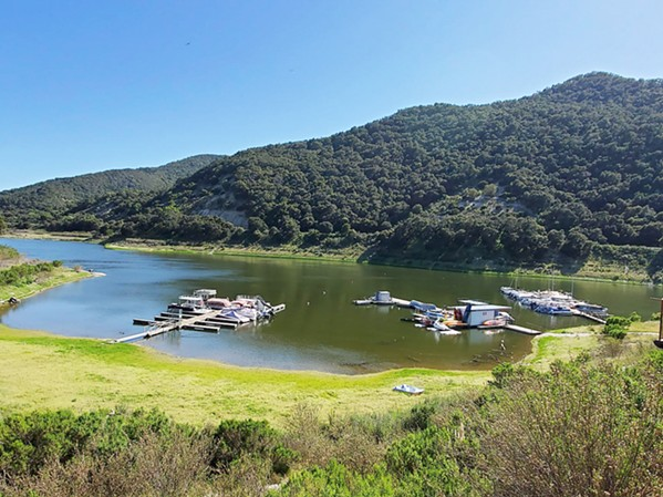 OPEN WITH GUIDELINES Lopez (pictured) and Santa Margarita Lakes are open to the public but have restrictions on the number of cars allowed at a time. - PHOTO COURTESY OF LOPEZ LAKE MARINA FACEBOOK PAGE