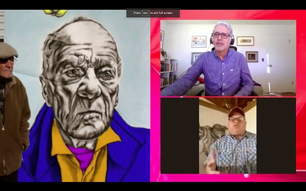 MOVERS AND SHAKERS Studios on the Park Artistic Director Henry A. J. Ramos interviews artist Joe Thomas in the gallery's new Artist Interview Series, available online through the gallery's website. - SCREEN SHOT COURTESY OF STUDIOS ON THE PARK