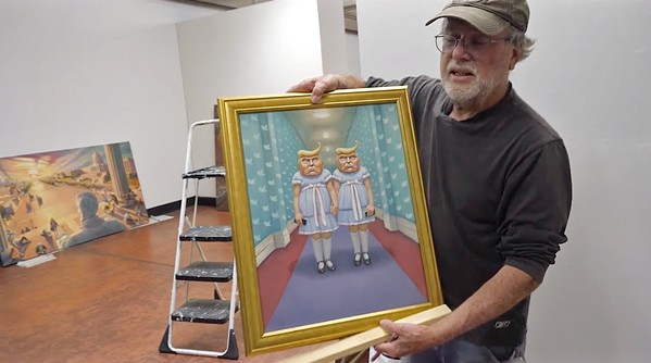 THE SATIRIST Even if you missed local artist Mark Bryan's exhibition, Fake News, at the SLO Museum of Art, you can still get a virtual tour and hear the artist speak about his work on SLOMA's website. - SCREEN SHOT COURTESY OF THE SAN LUIS OBISPO MUSEUM OF ART