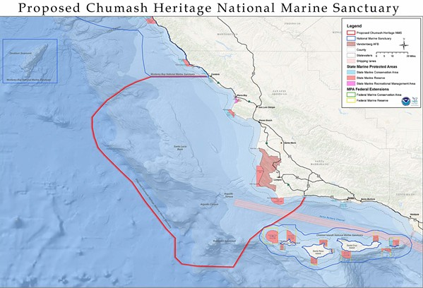 IN THE QUEUE NOAA is evaluating whether to extend the nomination period for the proposed Chumash Heritage National Marine Sanctuary. - IMAGE COURTESY OF NOAA