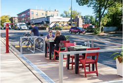 EATING OUTDOORS In an effort to aid Paso Robles downtown eateries, the city is looking into parklets. - PHOTO COURTESY OF THE CITY OF PASO ROBLES