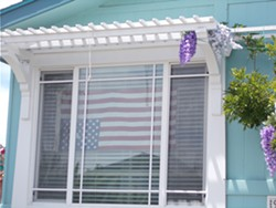 STAY-AT-HOME PROTEST Neighbors who live near veteran Stephen Siemsen have complained about his decision to display an upside down American flag as part of the nationwide protests against racism and police brutality. - PHOTO COURTESY OF STEPHEN SIEMSEN