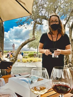 UNDER THE OLIVE TREES Kimberly Sabella, an estate host at Tolosa, was our server for the most divine lunch I have had in a long time. Yes, they are open for dine-in! - PHOTOS BY BETH GIUFFRE