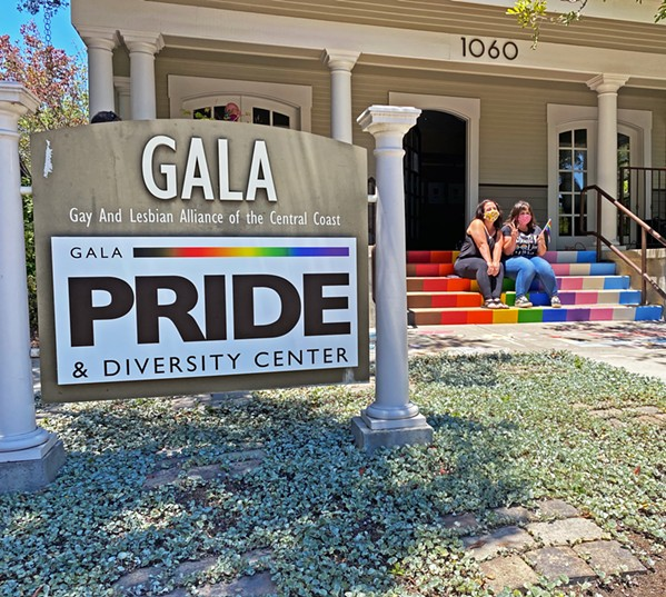 SHOWING PRIDE Community members celebrated Pride in San Luis Obispo by momentarily stopping by the Gala Pride and Diversity Center. - PHOTO BY KAREN GARCIA