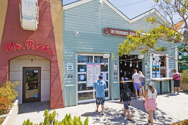 DESTINATION BAR Mr. Rick's has always been the spot to go in Avila Beach, so it's no wonder readers voted it the South Coast's best bar. - PHOTO BY JAYSON MELLOM