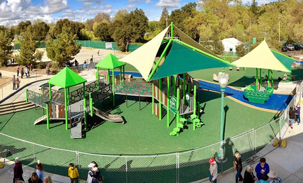 A PLAYGROUND FOR ALL Joy Playground in Atascadero opened to the public in 2019 but since its gates closed due to COVID-19, its fencing has been vandalized. - PHOTO COURTESY OF PARENTS FOR JOY FACEBOOK PAGE