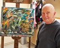 Morro Bay author and artist Marvin Sosna displays abstract expressionist works at the Cambria Center for the Arts