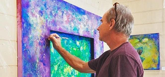 Color explosion! Tom Sage presents seven works at Ascendo Coffee