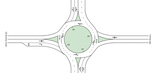 Officials eye roundabouts for Highway 227; residents 'not convinced'