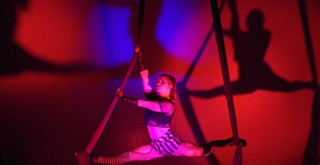 Levity Academy holds first Halloween aerial show
