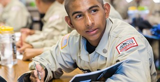 New outlook: The Grizzly Youth Academy helps its cadets gain a confidence in themselves they didn't have before