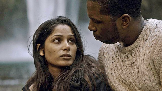 THE END As a deadly virus wipes out Earth's female population, Eve (Frida Pinto) and Will (Leslie Odom Jr.) share one final adventure together, in Only, screening on Netflix.