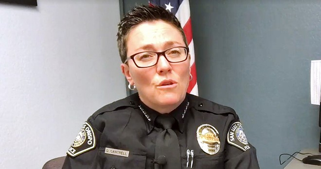 EVIDENCE QUESTION A defense attorney is asking a judge to suppress evidence taken during the SLO Police Department's 2019 search of a home for Chief Deanna Cantrell's (pictured) lost gun.