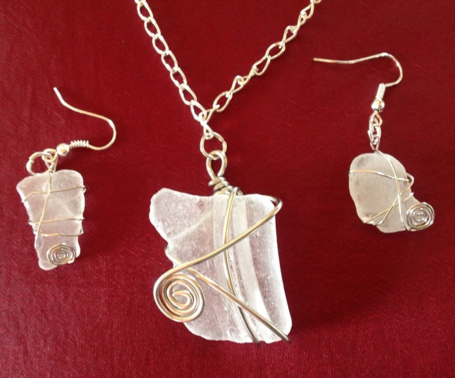 Learn how to wire wrap sea glass.