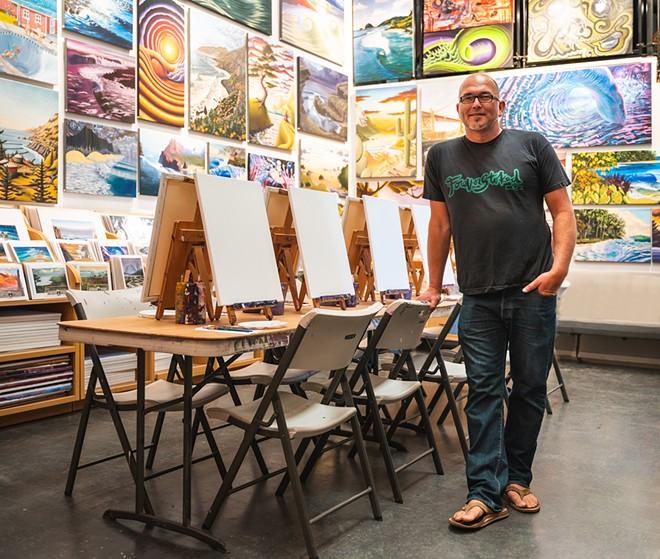 Paint Party Artist and Instructor Chris Pedersen
