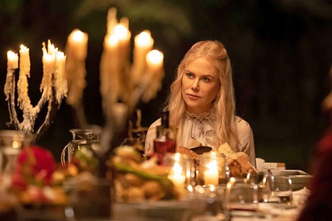 THE CURE? Wellness guru Masha Dmitrichenko (Nicole Kidman) runs Tranquillum House, a resort with unorthodox treatments, in Nine Perfect Strangers, streaming on Hulu.