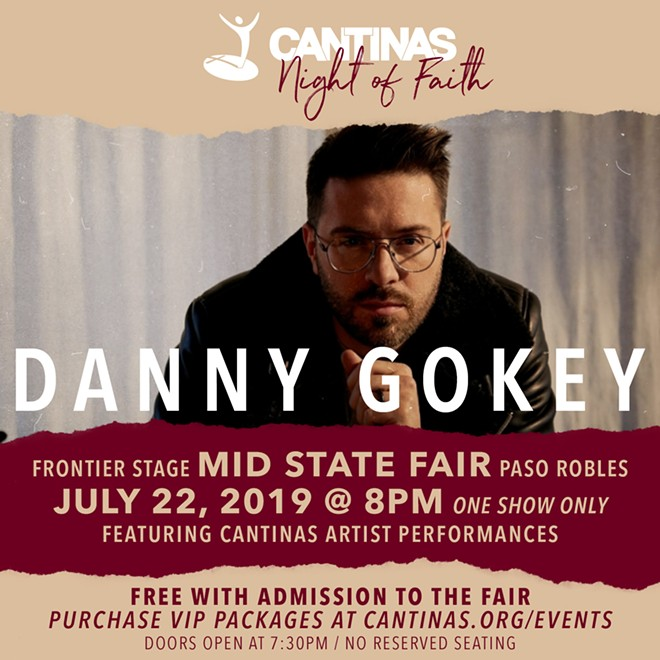 Danny Gokey performing at Night of Faith
