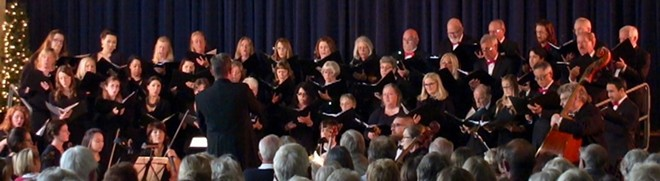Director Dr. Michael Eglin and SYV Chorale and Orchestra in concert
