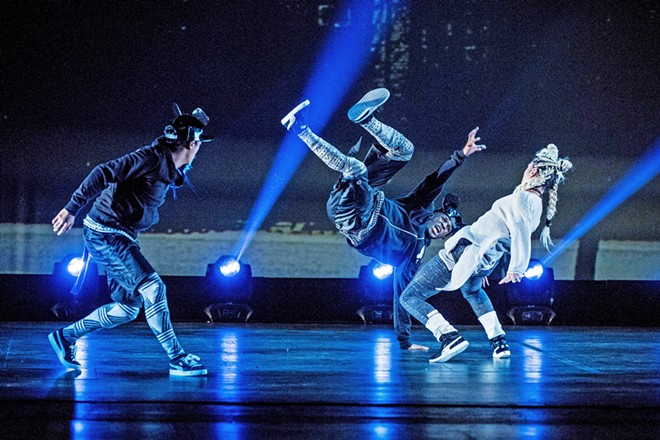 CONVENTIONAL MEETS CONTEMPORARY The Hip Hop Nutcracker tells the traditional holiday love story—but with break dancing instead of ballet.