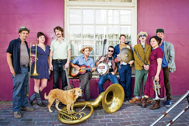 NOLA STYLE New Orleans jazz act Tuba Skinny plays a free teaser concert at the SLO Farmers' Market on Oct. 24 to promote the Jazz Jubilee by the Sea music festival, Oct. 25 to 27, in Pismo Beach and Arroyo Grande.