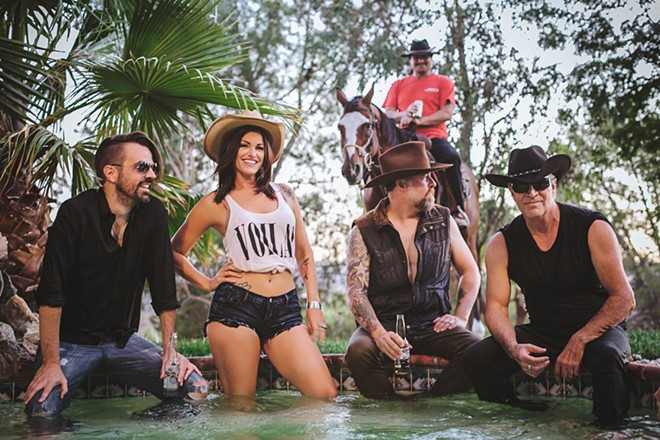HOT TUBS AND ROCK 'N' ROLLERS Rock, cowpunk, and rockabilly act LuLu and the Cowtippers play an EP release party at The Siren on Jan. 3.