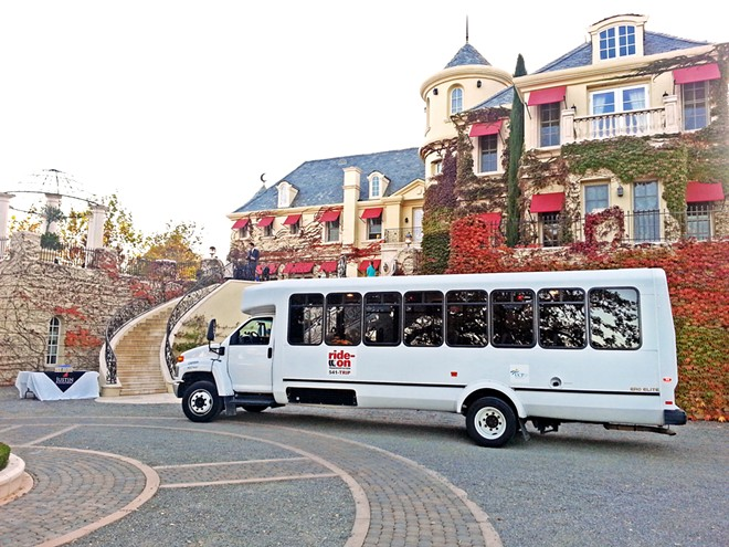 SHUTTLE UP Aside from its social services transportation programs, Ride-On also provides shuttles to and from the airport, train station, and wedding and van pool services.