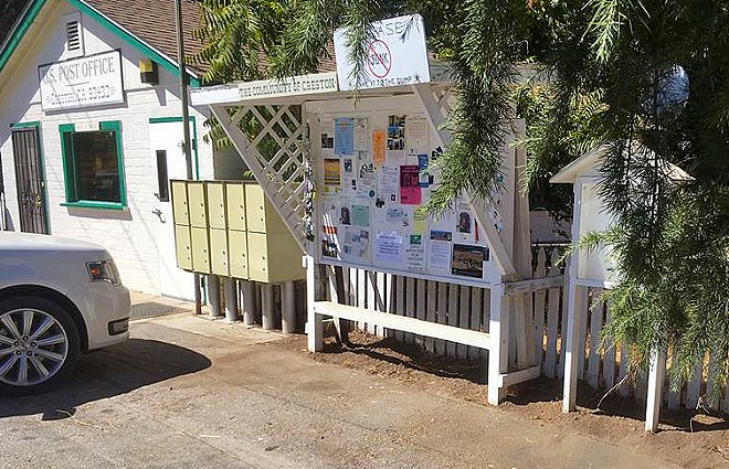 PROVIDING A SERVICE The Creston's Women's Club keeps in touch with its community by posting to the community board that's located next to the post office.