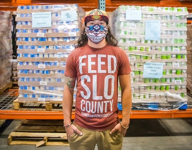 EVERY LIFE The pandemic hasn't let anyone escape its grasp, from SLO County Food Bank workers, such as Shadoe Venezuela, to the people he delivers food for and others.