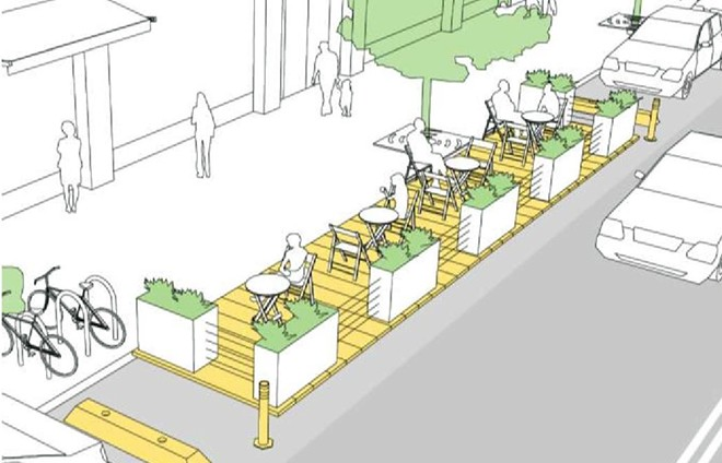 SAFE DINING San Luis Obispo has funding to create parklets for some restaraurants to accommodate more outdoor dining.