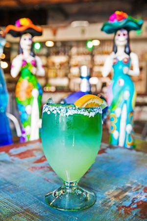 SALTY La Esquina Taqueria serves up the Best Margarita, including the Gonzagarita, orange-infused tequila blanco, fresh lime juice, house-made sweet and sour, and French Bauchant liquor. - PHOTO BY JAYSON MELLOM