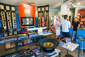 OLD SCHOOL Lombards Audio likes to pretend that the internet is still a thinG of the future. That ol' handshake and a smile greeting must be working, because their customers voted them the best for all your audio needs. - PHOTO BY JAYSON MELLOM
