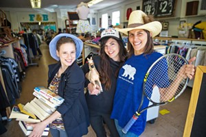 NIFTY AND THRIFTY Claire Levine, Jennifer Stephenson, and Meagan Watts will help you find what you're looking for at the Best Thrift Store in the county—Fred and Betty's. Plus, proceeds benefit The SLO Classical Academy. - PHOTO BY JAYSON MELLOM