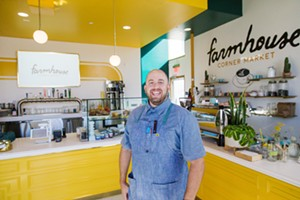 "BEST NEW SPOT Farmhouse Corner Market owner-chef Will Torres and his partners are making waves at the corner of Farmhouse Lane and Highway 227—a spot that also happens to be the ""intersection of flavor and friendship."" - PHOTO BY JAYSON MELLOM"