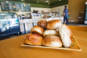 HOLEY The House of Bagels makes perfect breakfast bites with their fresh-baked water bagels, which are traditional, authentic, and the best. - PHOTO BY JAYSON MELLOM