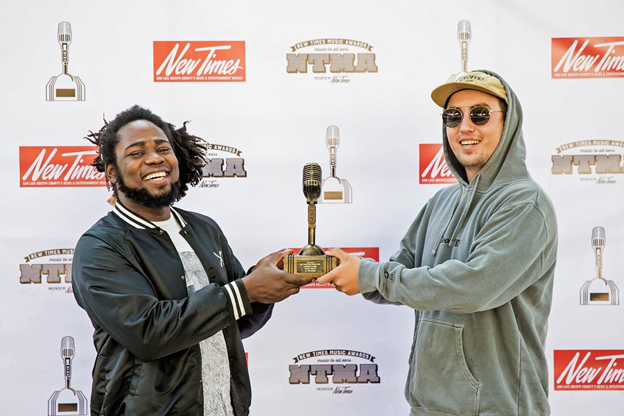 """HIP-HOP/RAP Silk Ocean frontman Hakeem Sanusi (left) and producer Vince Angelo dropped """"Listen to Me,"""" a tight hip-hop track that would light up a dance floor. - PHOTO BY JAYSON MELLOM"""