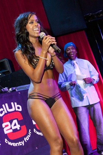 BIKINI QUEEN :  North Carolina native Mariah Navit Stuart was coronated by a panel of five esteemed judges. - PHOTOS BY STEVE E. MILLER