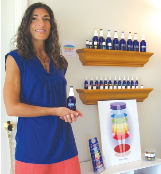 SCENT POWER :  Constance Hart displays her scented oils. - PHOTO COURTESY CONSTANCE HART