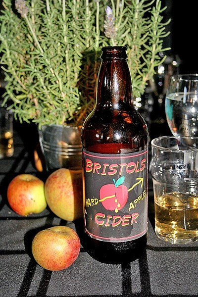 ENGLISH STYLE:  Developed by Lone Madrone Winery owner/winemaker Neil Collins, Bristols Cider is crisp, dry, and refreshing—just like the ciders Collins used to enjoy back in his hometown of Bristol, England. - PHOTO BY HAYLEY THOMAS