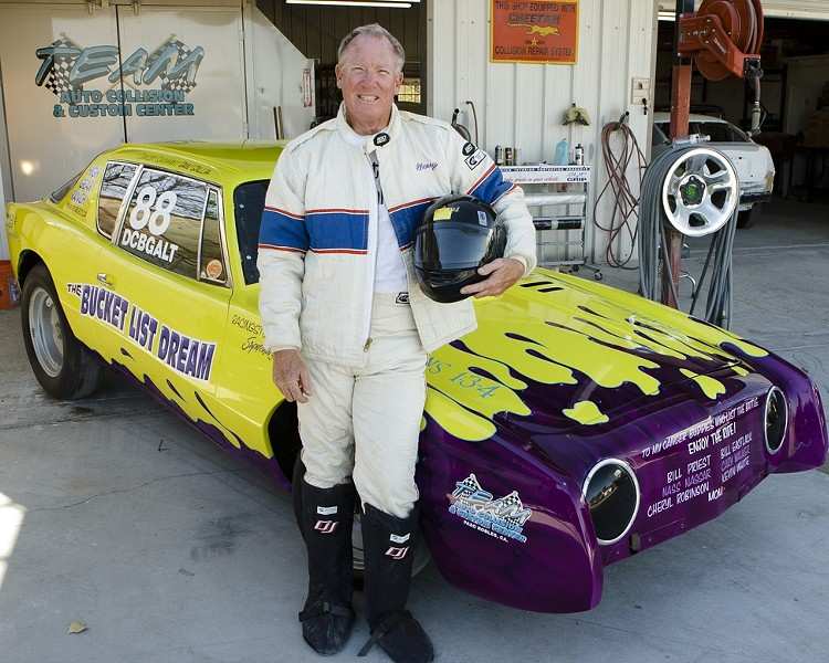OFF TO THE RACES :  Cancer survivor Dan Sallia hopes to raise enough money to upgrade his 1953 Burke Bros. Studebaker and race it on the Bonneville Salt Flats in Utah. - PHOTO BY STEVE E. MILLER