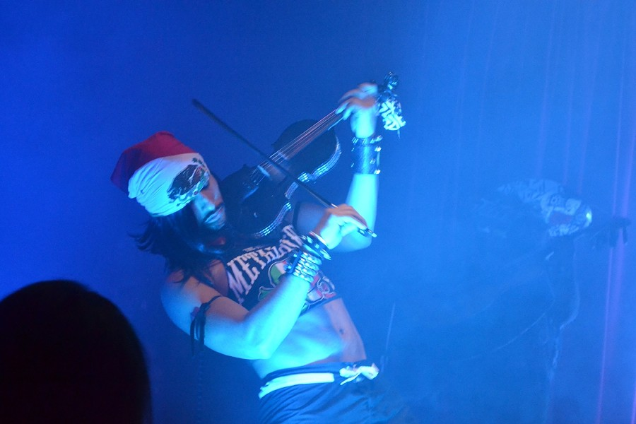 "DIRTY VIRTUOSO:  Maximilian ""Dirty"" Sanchez shredded on electric violin. - PHOTO BY RHYS HEYDEN"