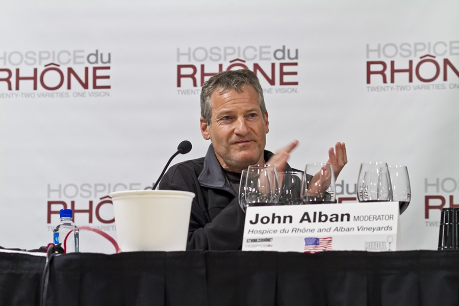 GOING RHONE :  Alban Vineyards in Edna Valley was the first American vineyard to plant exclusively Rhone vines, and they're still promoting the varietal. - PHOTOS COURTESY OF HOSPICE DU RHONE
