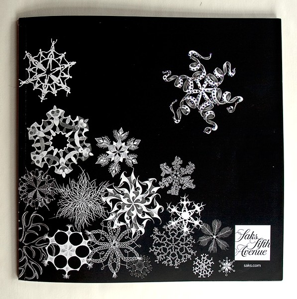 SNOWFLAKES :  A Saks Fifth Avenue ad featuring snowflakes was designed by Marian Bantjes. - IMAGE BY MARIAN BANTJES